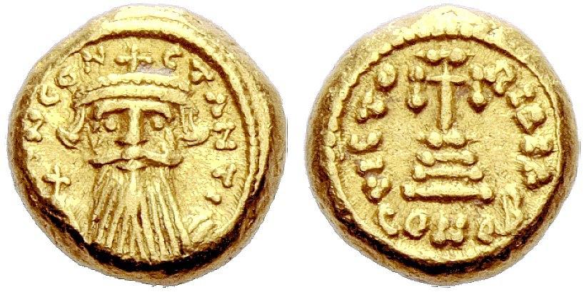 Constans II 641-678, Karthago, 652-653, AV 4.37 g