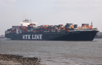Container ship NYK Orpheus in 2009 on the river Elbe.png