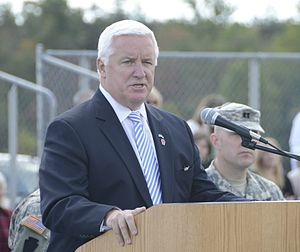 Tom Corbett - Corbett speaking to members of Heavy Brigade Combat Team at Fort Indiantown Gap.