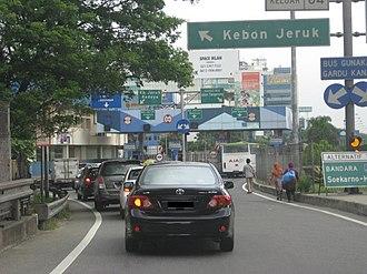 Kebon Jeruk - Kebon Jeruk Tollway exit ramp