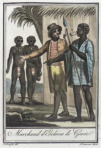 Gorée - A slave trader of Gorée, engraving of c. 1797