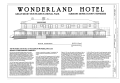 Cover Sheet with South Elevation - Elkmont Historic District, Wonderland Club, Wonderland Hotel, Annex and Servants' Quarters, Wonderland Hotel Access Road, Elkmont, HABS TN-250-GGG (sheet 1 of 12).png