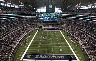 AT&T Stadium - Cowboys playing at the stadium