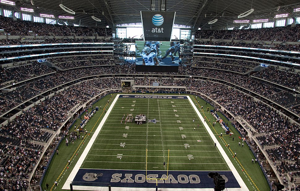 Cowboys Stadium field
