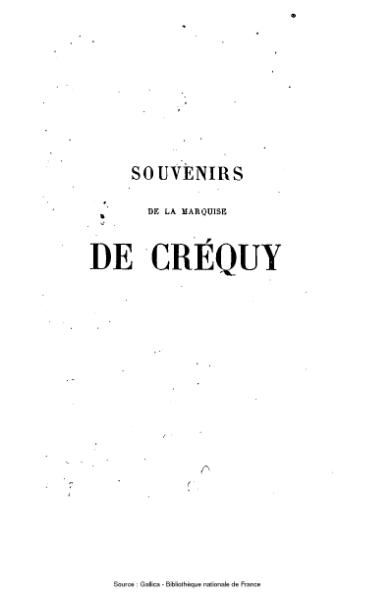 File:Créquy - Souvenirs, tome 2.djvu