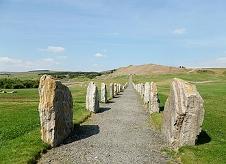 Charles Jencks - Stone rows on the 'North-South Line' at the Crawick Multiverse