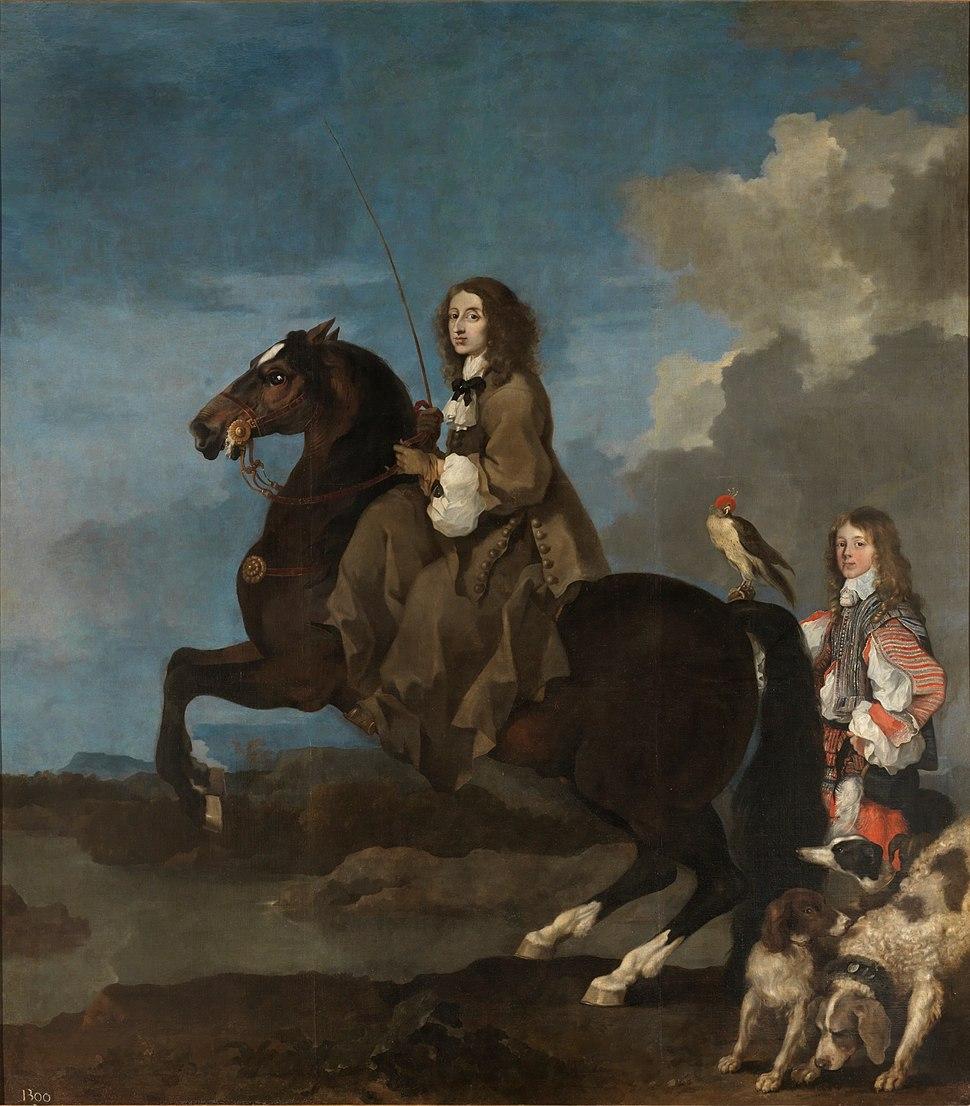 Cristina de Suecia a caballo (Bourdon)