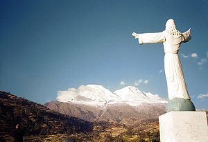 Huascarán visto do Cristo Redentor
