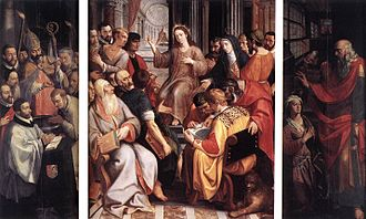 1587 in art - Francken – Jesus among the Doctors, Cathedral of Our Lady (Antwerp)