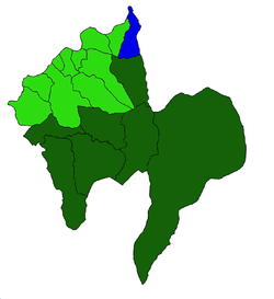 Location in the municipality of Melgaço