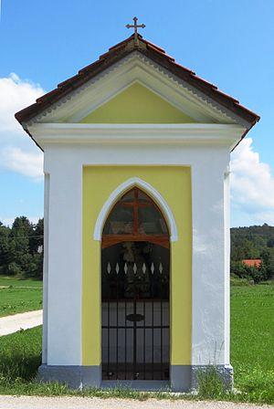Črni Vrh, Idrija - Image: Crni Vrh Idrija Slovenia Plesnar shrine