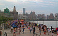 Crowded Bund on summer evening.jpg