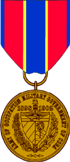 Army of Cuban Occupation Medal - Image: Cuban Occ Med
