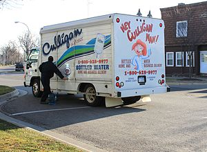 Culligan - Culligan delivery truck with advertising slogan, Dundee, Michigan