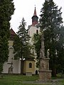 Cvikov, kostel svaté Alžběty Uherské, sloup 01.jpg