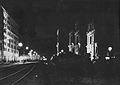 Cztery fazy przesunięcia koscioła Narodzenia Najświętszej Maryi Panny w Warszawie 1962.jpg