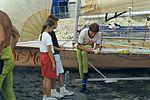 Dériveurs 18 pieds australiens au Salon Nautique International à Flot de La Rochelle 1987 (19).jpg