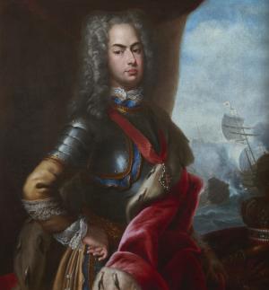 Battle of Matapan - Image: D. João V e a Batalha do Cabo Matapão (1717) Domenico Duprà (MNAA)