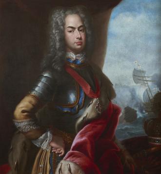 Battle of Matapan - John V of Portugal and the Battle of Matapan, 1717, Domenico Duprà (National Museum of Ancient Art)
