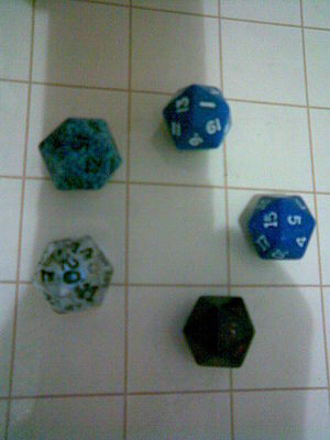 some dices of 20 faces.