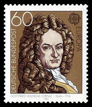 stamp for Gottfried Wilhelm Leibniz (1646-1716)