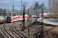 DB BR440 mit BR111 Dostos - Einfahrt Bahnhof Treuchtlingen (Bayern) - (Eisenbahn-Die Bahn) (13516484115).jpg