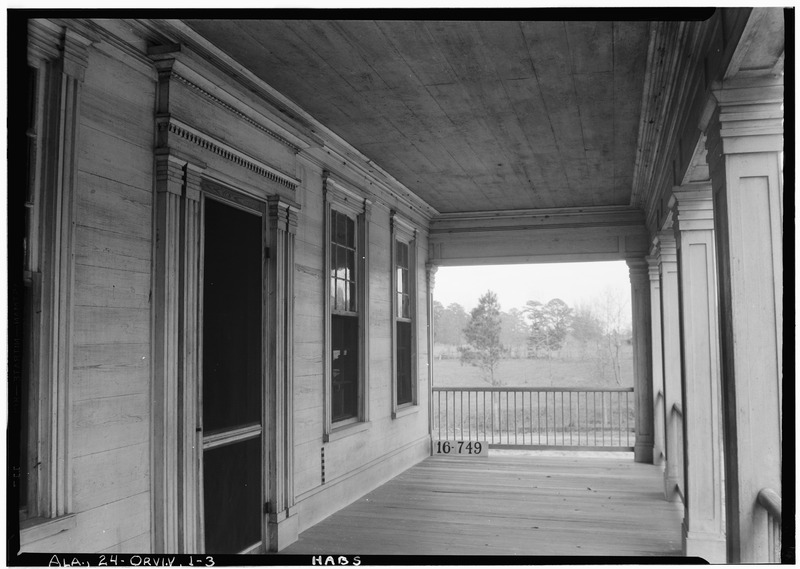 File:DETAILS (FRONT PORCH) - Bland House, County Road 11 vicinity, Orrville, Dallas County, AL HABS ALA,24-ORVI.V,1-3.tif