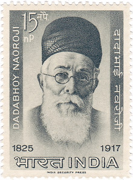 Naoroji on a 1963 stamp of India Dadabhai Naoroji 1963 stamp of India.jpg