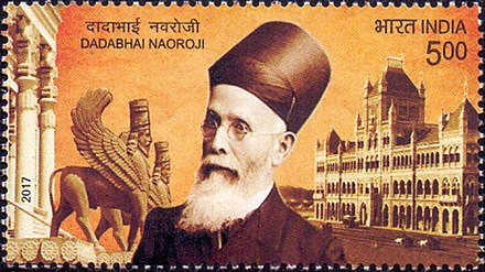 Naoroji on a 2017 stamp of India Dadabhai Naoroji 2017 stamp of India.jpg