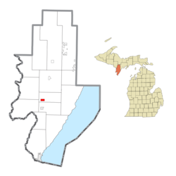 Location within Menominee County