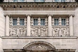 C. J. Allen (sculptor) - Image: Dale Street frieze, Royal Insurance Building
