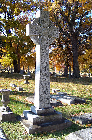 Anne Dallas Dudley - A Celtic cross stands in the center of the Dallas family burial lot.