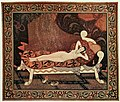 Danae. Tapestry panel, designed by Edmund Dulac, woven by Leo Belmonte.jpg