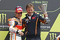 Dani Pedrosa and Mike Leitner 2013 Le Mans.jpg