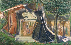 Stanzaic Morte Arthur - Arthur's Tomb – The Last Meeting of Lancelot and Guinevere by Dante Gabriel Rossetti