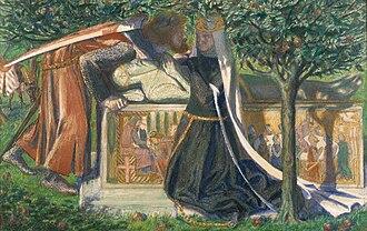 Pia de' Tolomei (Rossetti painting) - Image: Dante Gabriel Rossetti Arthur's Tomb (1860)