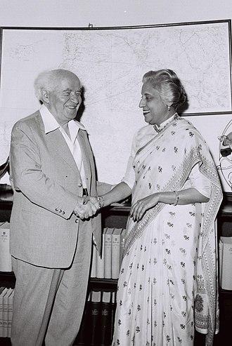 Krishna Hutheesing - Krishna Hutheesing meeting David Ben-Gurion (the first Prime Minister of Israel) in Israel, 1958