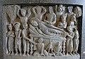 Death of the Buddha, Pakistan, Kushan period, 200s AD, stone - Hakone Museum of Art - Hakone, Kanagawa, Japan - DSC08339.jpg