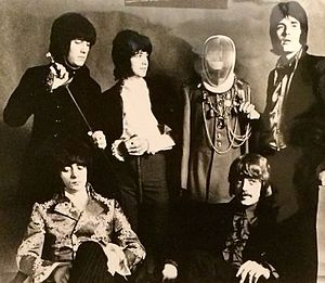 Rod Evans - Evans (far right) with Deep Purple in 1968