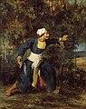 Delacroix - Indien armé d'un poignard Gurkha, um 1830.jpg