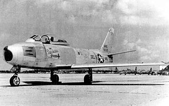 142d Airlift Squadron - F-86A of the 142d Fighter-Bomber Squadron, New Castle County Airport, 1954