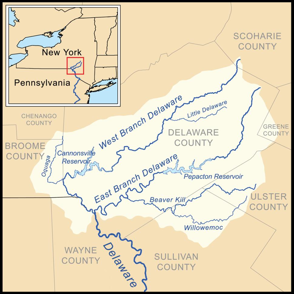 Delaware headwaters map