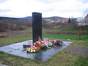 Saborsko massacre - A monument to the civilian victims in Saborsko