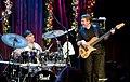 Dennis Chambers entertains Tom Kennedy, Jazz Alley, 2010-12-08.jpg