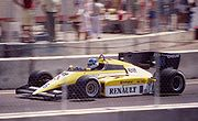 Derek Warwick qualified third for Renault at the 1984 United States Grand Prix, but spun off after 10 laps.