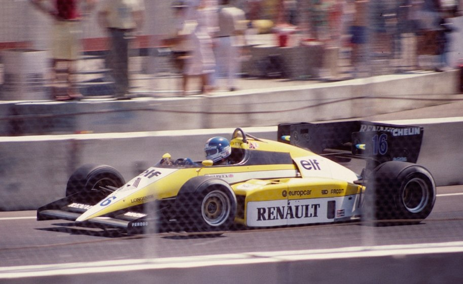 Derek Warwick Renault RE50 1984 Dallas F1