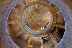 Desert View Watchtower - Interior view looking up from the second floor.
