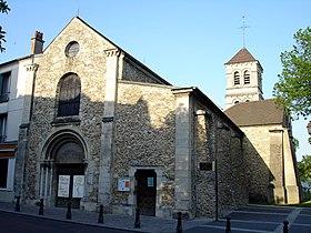 Façade de l'église Notre-Dame de Deuil-la-Barre