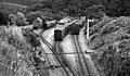 Devils Bridge, terminus of Vale of Rheidol Railway from Aberystwyth, 1952 (geograph 5327003).jpg