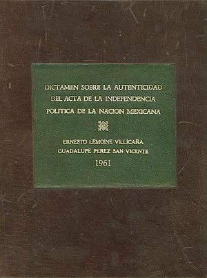 Declaration of Independence of the Mexican Empire - Image: Dictamen Acta